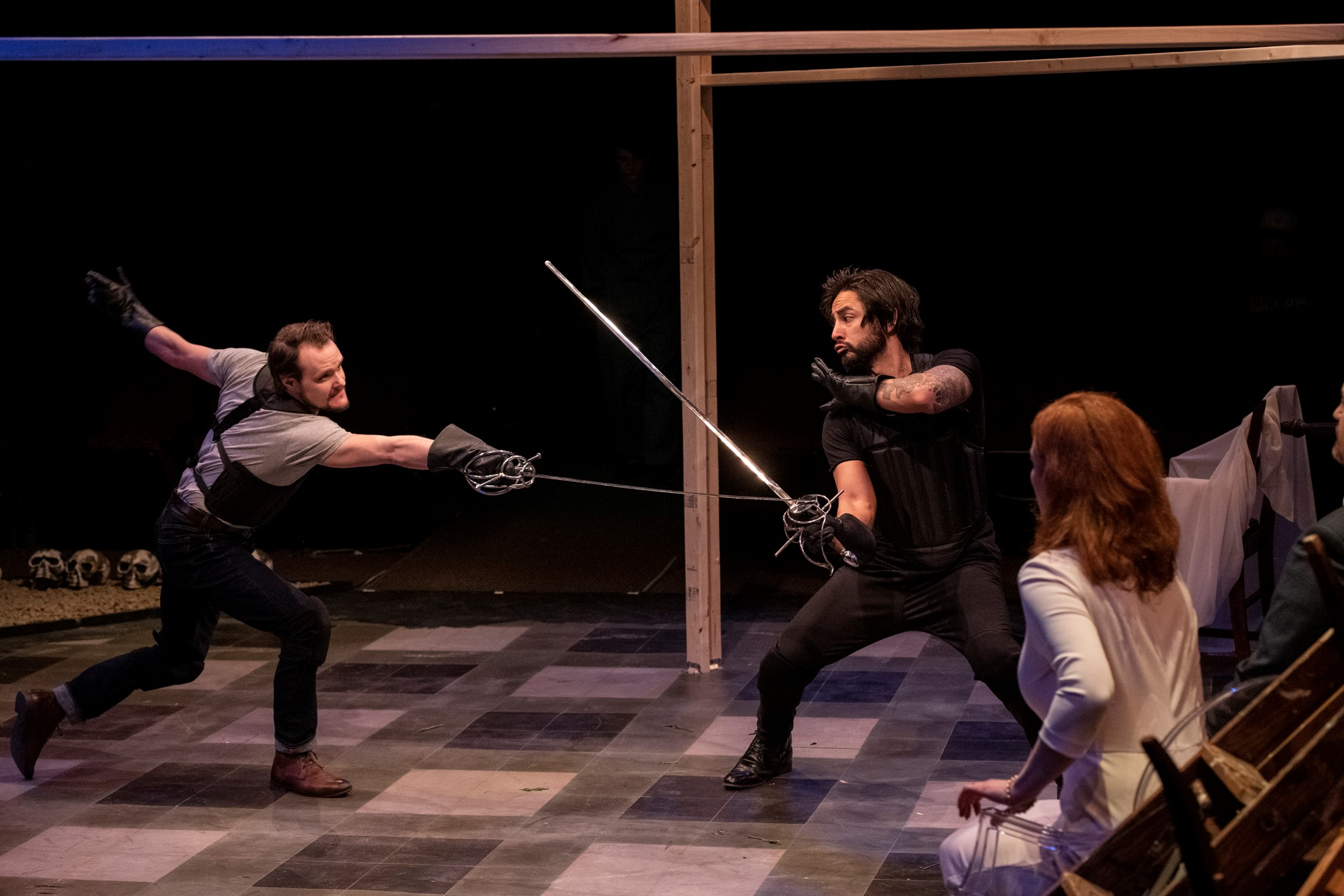 """masterfully staged … visceral … a 'Hamlet' to remember"" – Ann Marie Cusella, buffalo vibe"